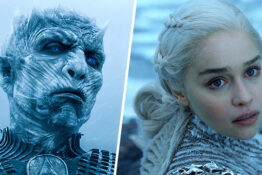 dany and the night king from game of thrones