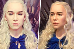 wax work of Daenerys Targaryen