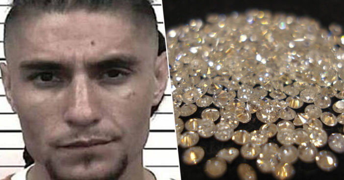 Albuquerque man Eusebio Padilla hid 44 diamonds inside his anus.