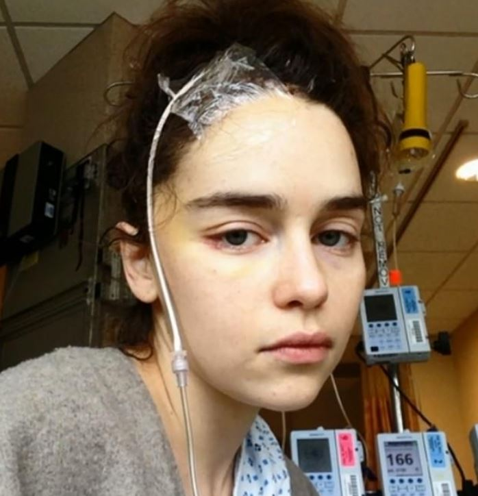 Emilia Clarke shares pictures from hospital