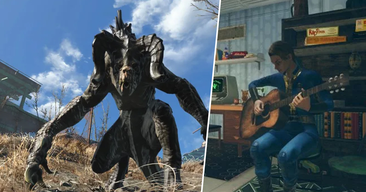 Guy Takes Busted Old Guitar And Makes Scorching Fallout Axe