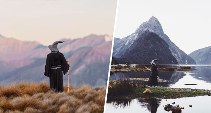 Lord of the Rings fan travels around New Zealand dressed as Gandalf.