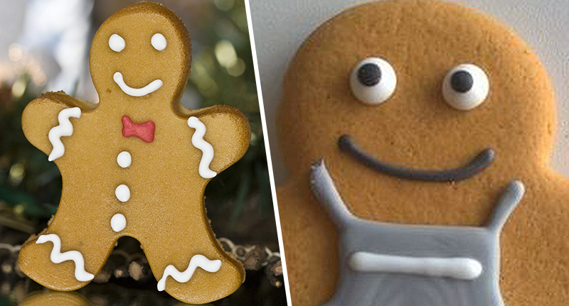 a gingerbread man and co-op gender neutral gingerbread person who needs a name
