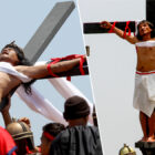 Catholic Devotees Nail Themselves To Wooden Crosses For Good Friday