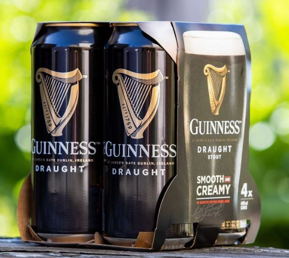 Guinness get rid of plastic packaging