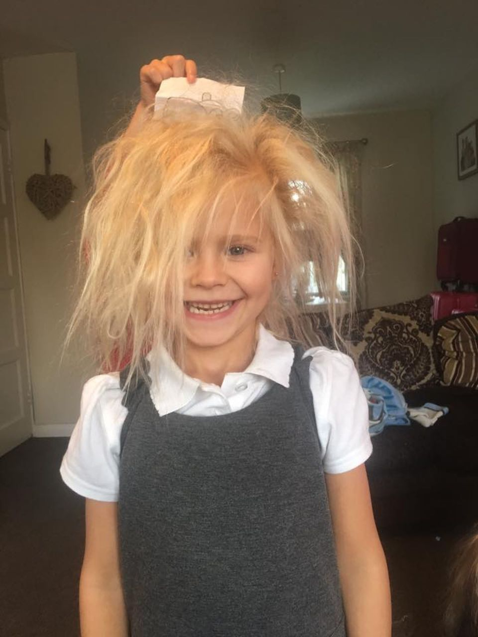 girl with uncontrollable hair