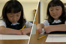 10-year-old girl who has no hands wins handwriting competition