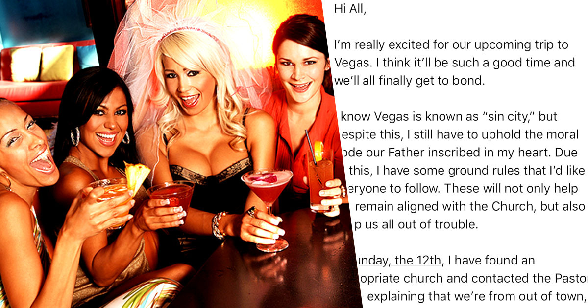 Woman On Hen Do Sends Ridiculous List Of Six Rules For Vegas Trip