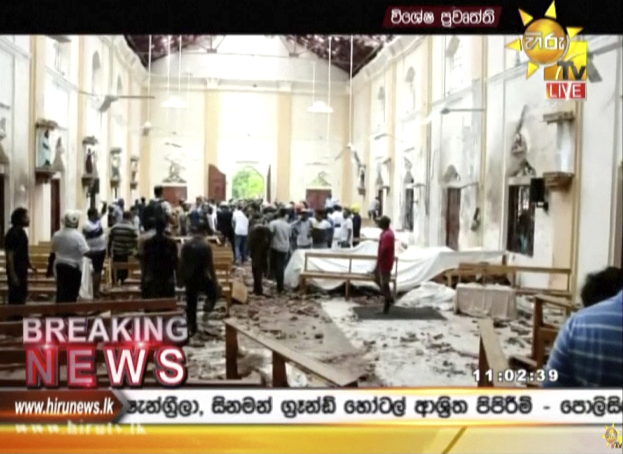 inside of chuch in sri lanka after explosions killed 137 people