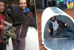 Engineer invents igloos for homeless people