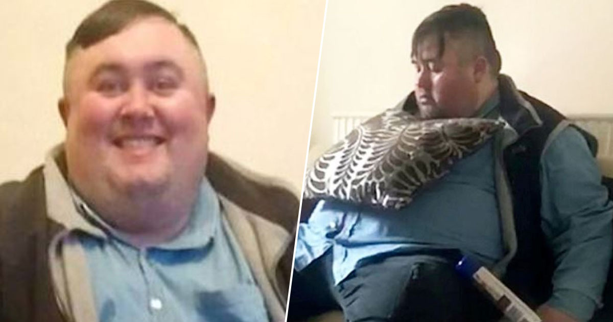 Man loses half his weight