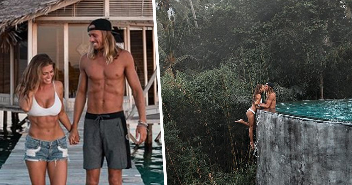 instagram couple kelly and kody's life-threatening pool picture