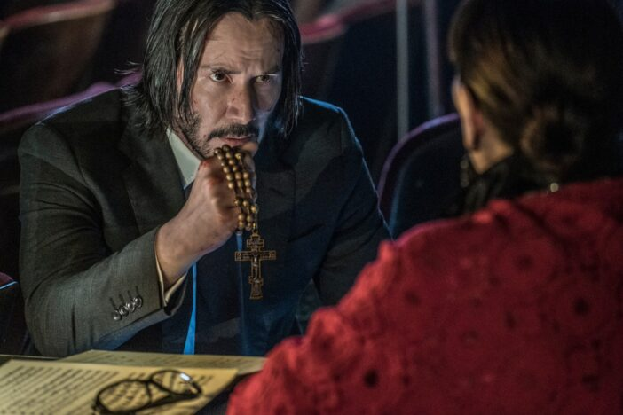 stills from john wick 3 featuring keanu reeves