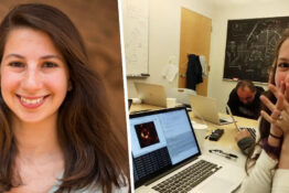 Dr Katie Bouman and picture of black hole