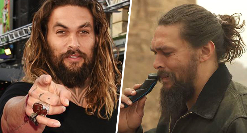Jason Momoa shaved his beard off