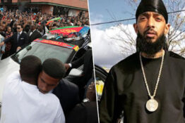 Tens of thousands of people attend Nipsey Hussle's funeral procession in LA.