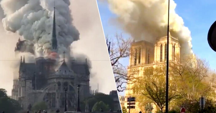 Notre Dame Cathedral in Paris is on fire.