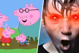 Horror trailers shown at peppa pig film