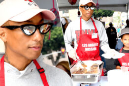pharrell williams and son rocket feed the homeless