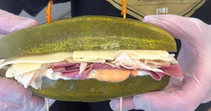 Elsie's sandwich shop in New Jersey sells actual pickle sandwiches.