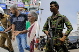 military officials in sri lanka after a number of explosions hit the country