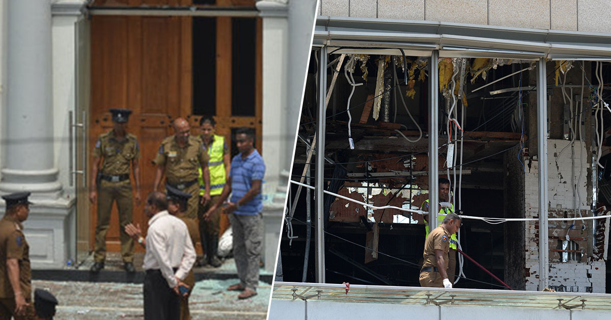 police in sri lanka after explosions