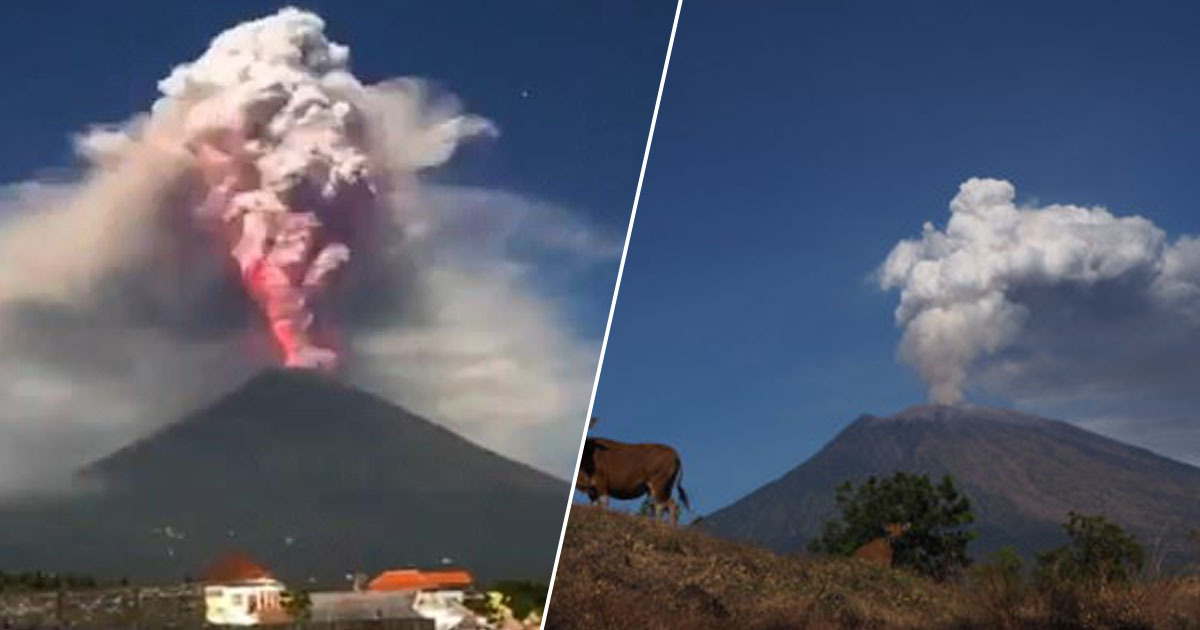 Bali's Mount Agung Volcano Has Erupted
