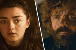 arya and tyrion from game of thrones