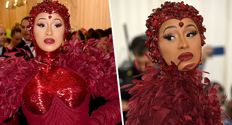 People think cardi b's dress is a period