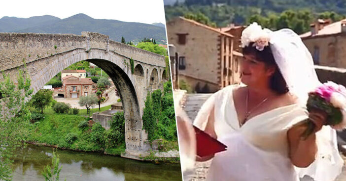 Woman marries bridge.