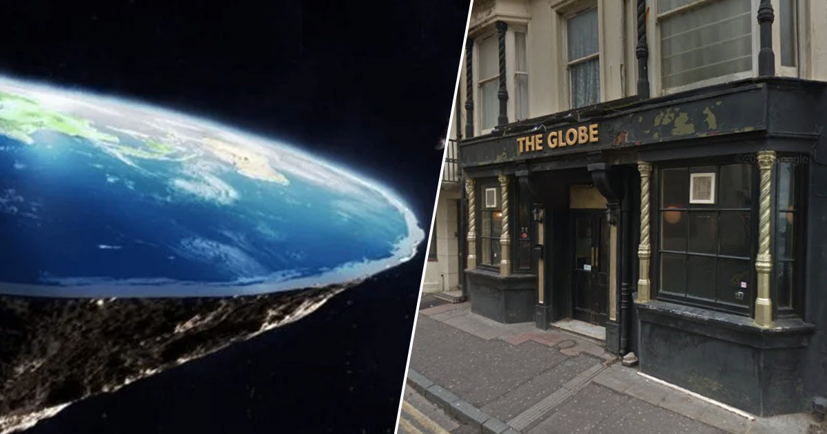Flat earth society meets at pub