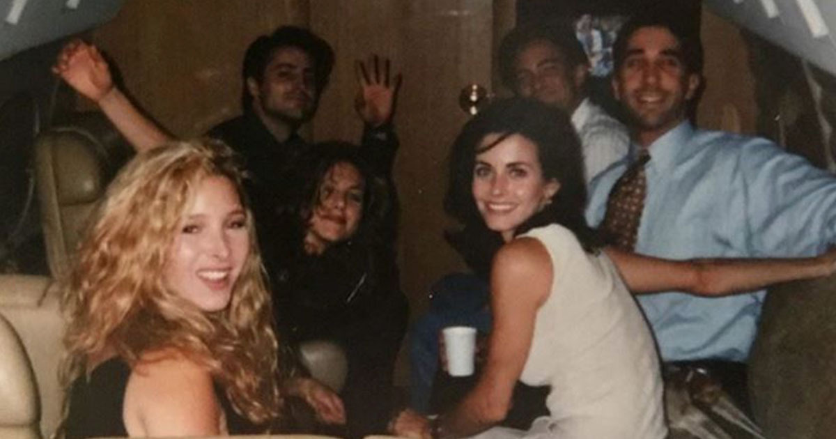 Courteney Cox Shares Throwback Friends Photo Before They Were Famous