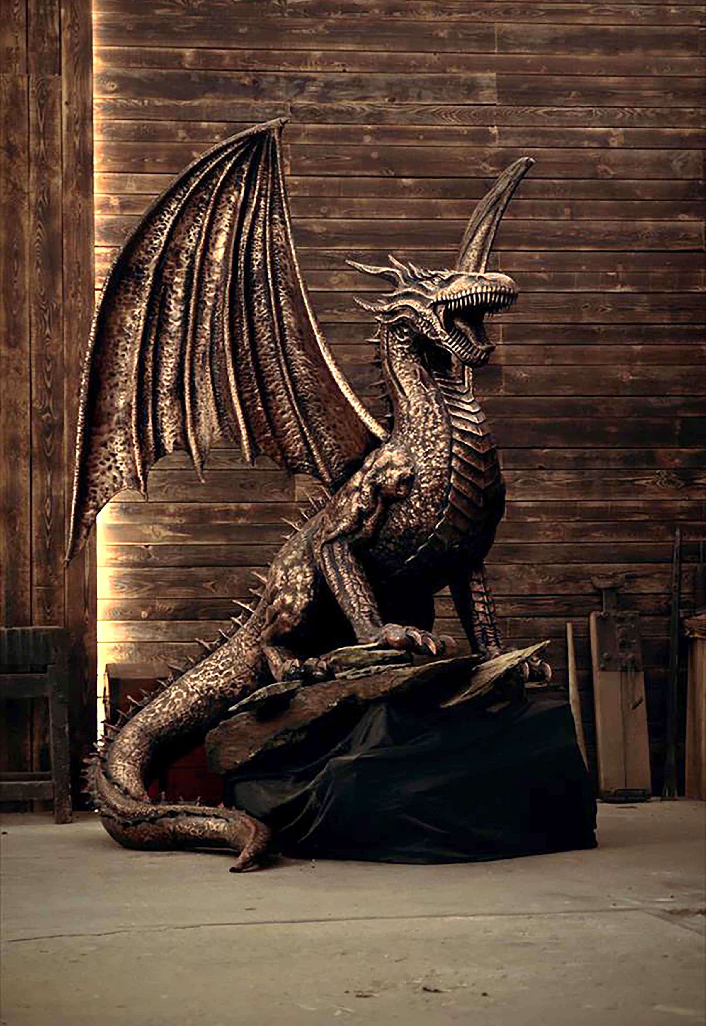 copper dragon from game of thrones