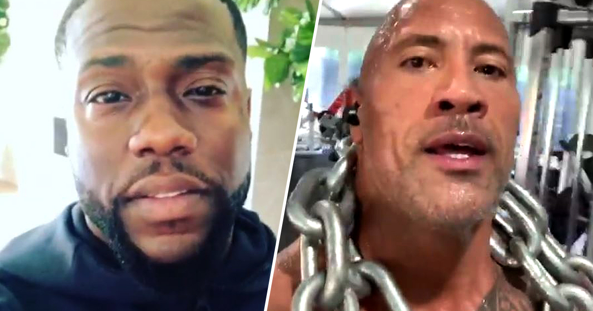 Kevin Hart claims he's the real rock