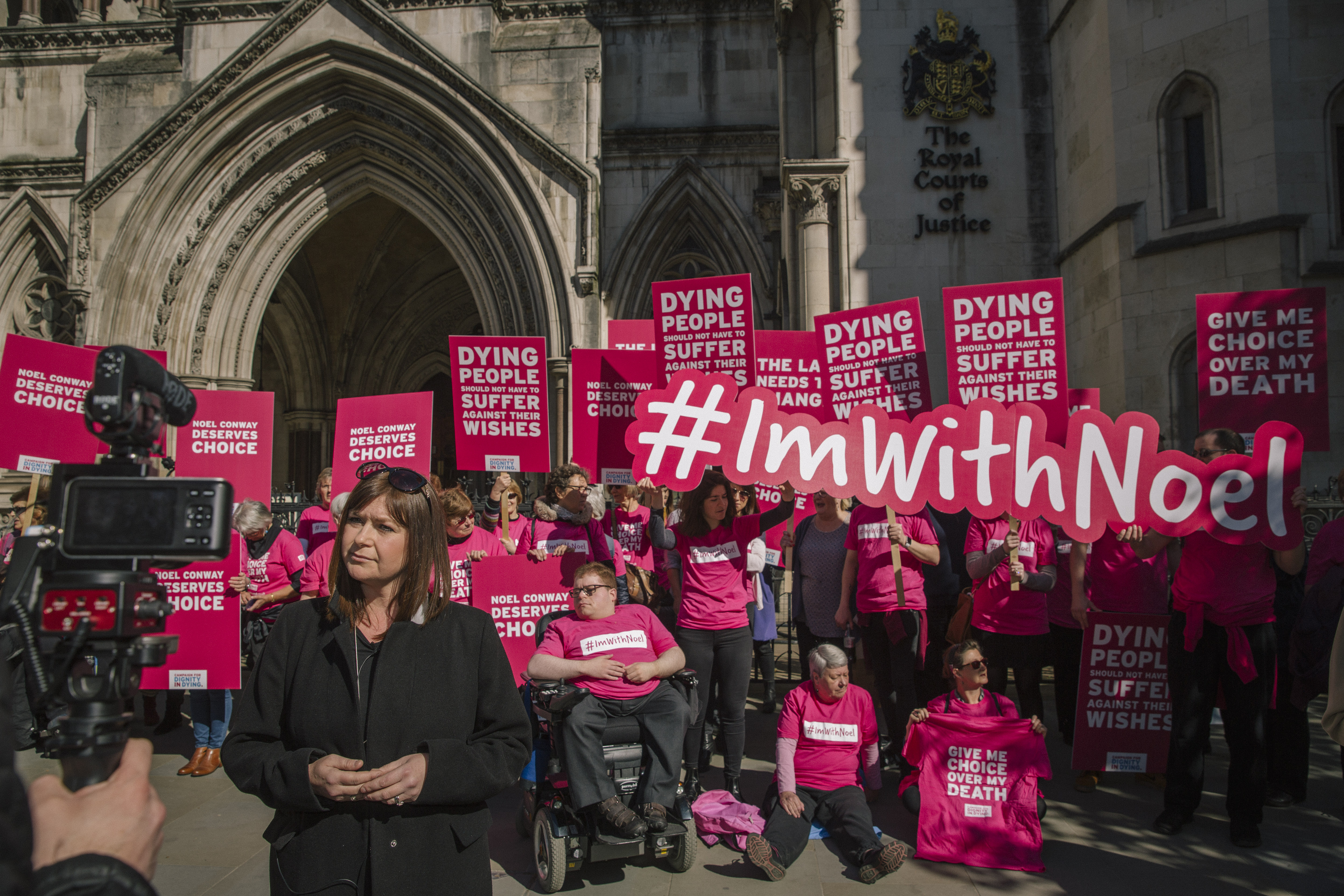Protest to fight for assisted dying