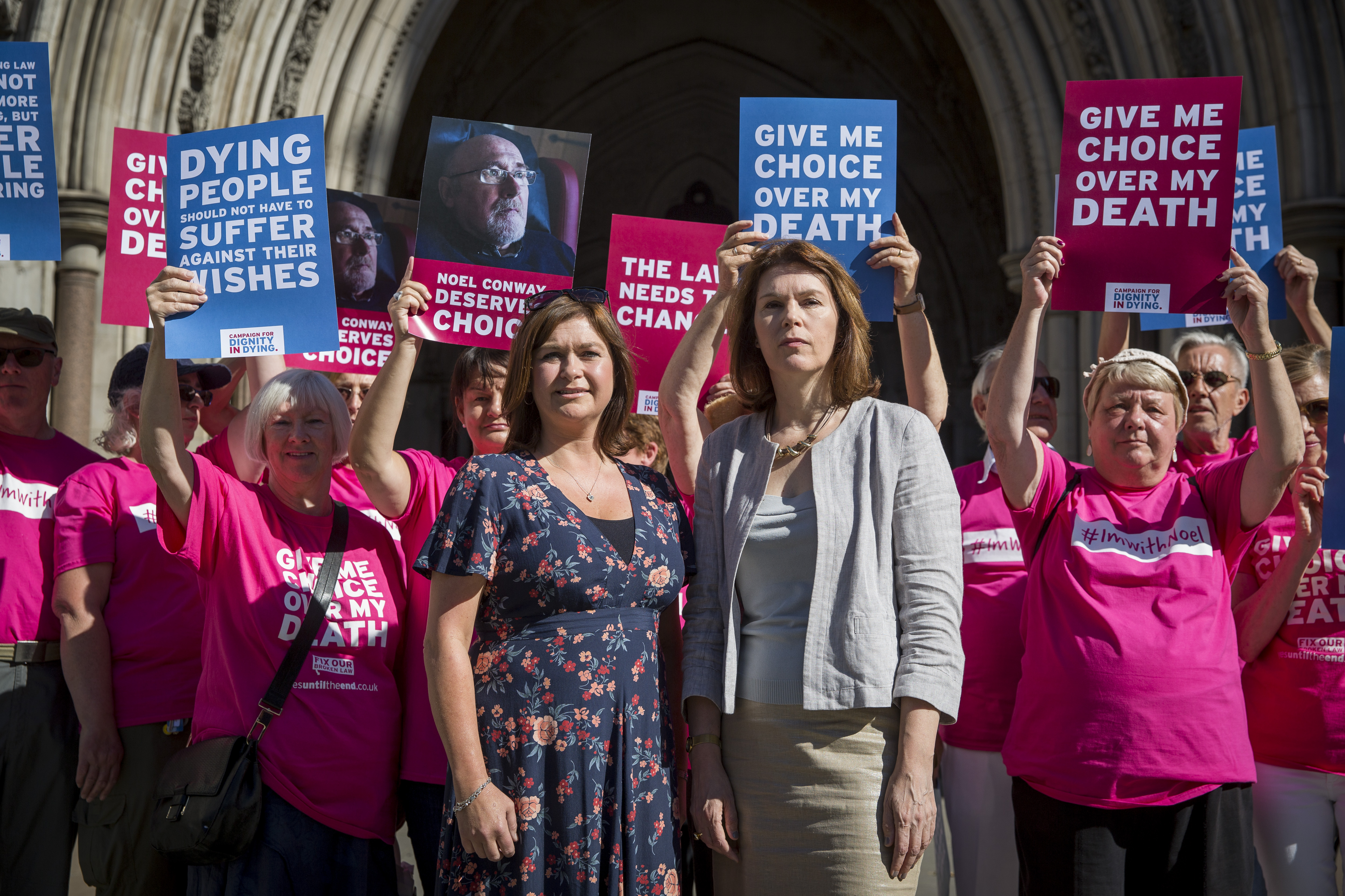 Dignity In Dying campaigners protest