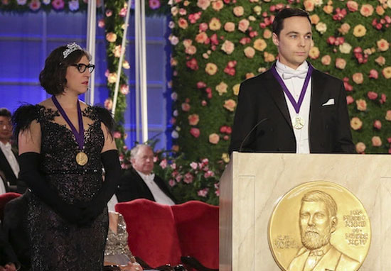 Sheldon and Amy nobel prize