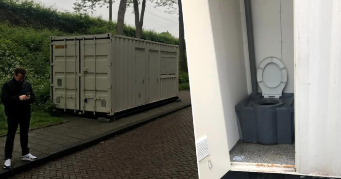 Man finds out his Airbnb is a shipping container.