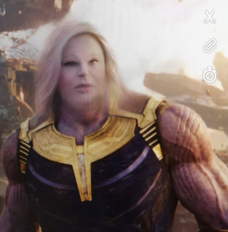 Thanos with new snapchat filter