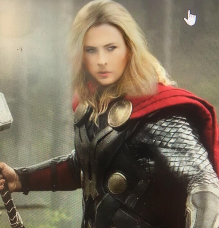 Thor with new snapchat filter