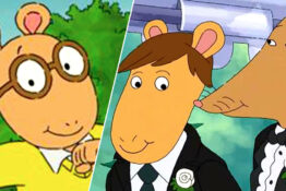 Gay wedding shown on Arthur.