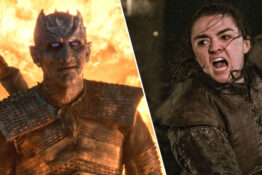 Arya Stark Maisie Williams Kills the Night King Game Of Thrones Battle of Winterfell season 8