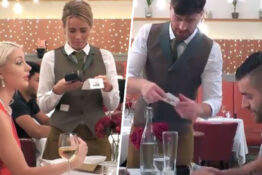 Paying the bill on First Dates