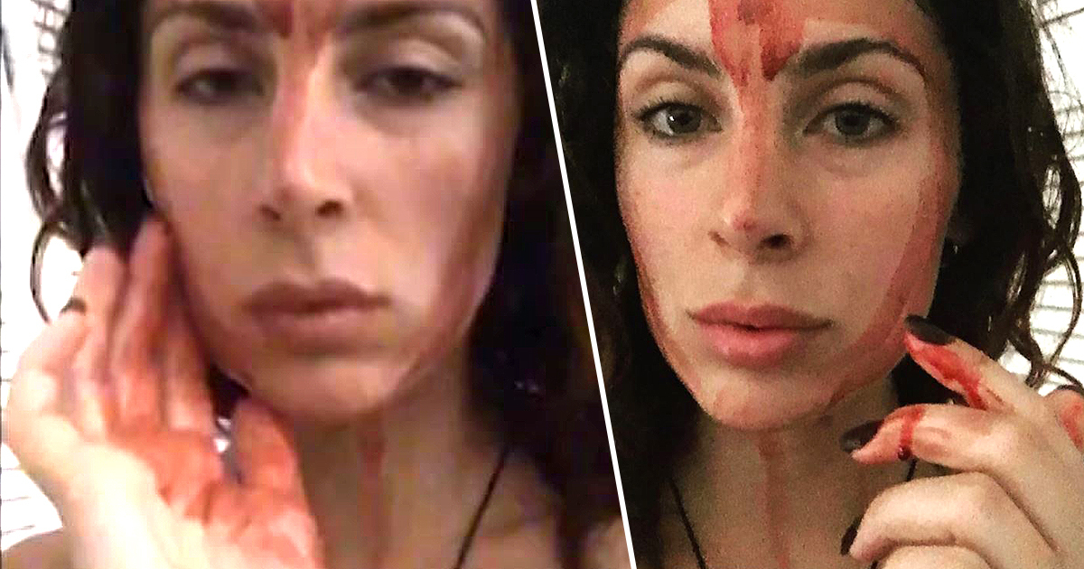 Woman Cures Period Pains By Smearing Blood On Her Face