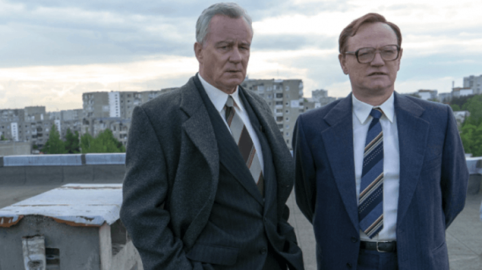 jared hess and Stellan Skarsgård in Chernobyl