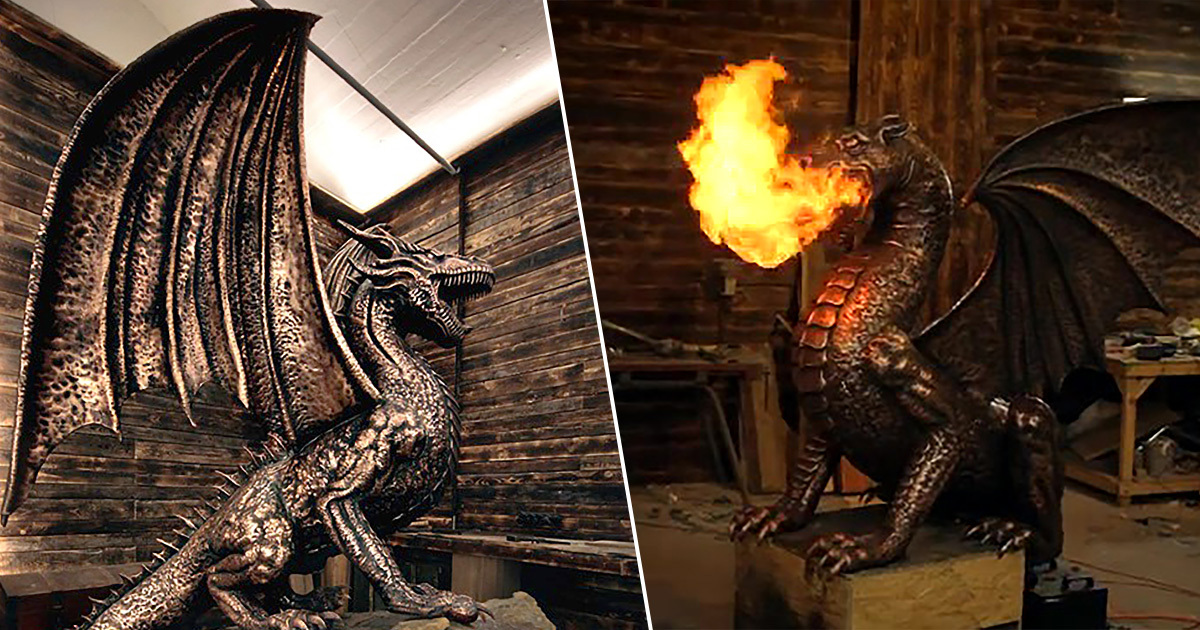 dragon statue from game of thrones