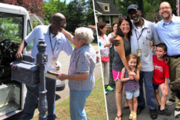 Neighborhood throws party for retiring mailman