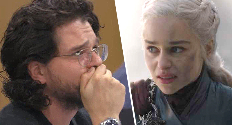 Kit Harington and Emilia Clarke in Game of Thrones