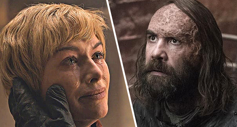 cersei and the hound from game of thrones season 8 episode 5