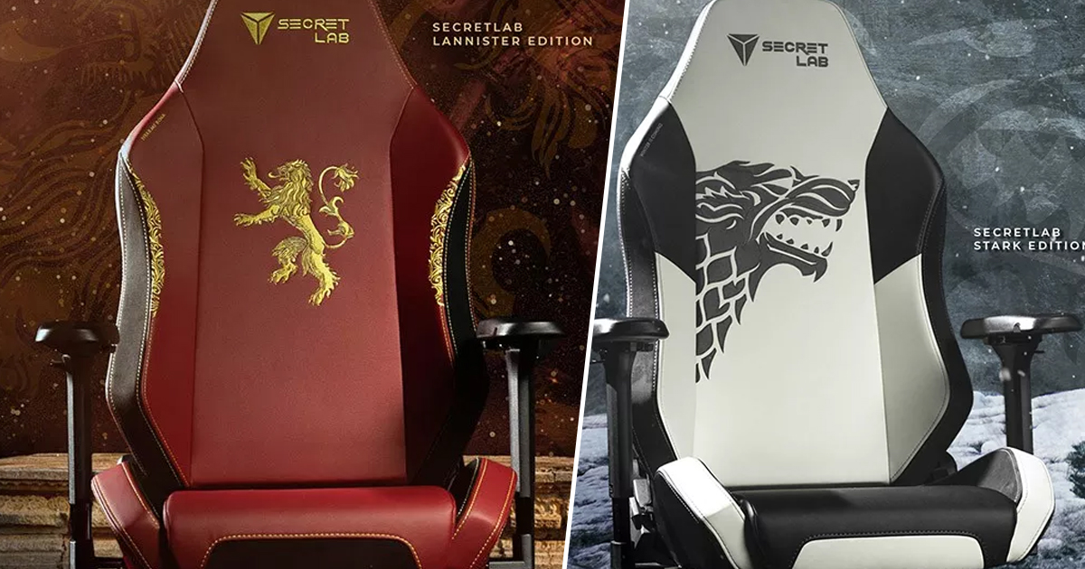 & Official Game Of Thrones Gaming Chairs Announced